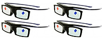 Samsung BN96-25617A Active 3D Glasses - 4 Pack