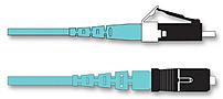 Corning 055702T5120003M 9.8 Feet Plug and Play Universal Systems Jumper 1 x LC Duplex 1 x SC Duplex Two Fiber 50 µm Multimode OM3