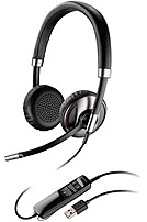 Plantronics Blackwire 700 Series 87506 01 C720 M Over the head Headset Binaural Bluetooth 2.1 EDR USB
