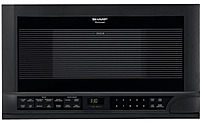 Sharp R-1210 1.5 Cubic Feet Over-the-counter Microwave - 1100 Watts - Black