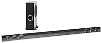 The Sharp HT SB602 2.1 Channel Slim Sound Bar is uniquely designed to compliment 60 inches and larger flat panel televisions