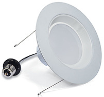 Verbatim Contour Series 98394 6-inch Warm 3000K LED Downlight - 800 Lumens - White