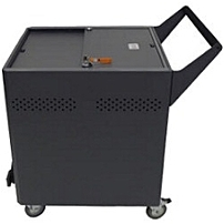 Datamation Systems Charging Security Cart for Chromebook - 4 x 4' Caster - Acrylonitrile Butadiene Styrene (ABS) - 25.3' x 30.5' x 35'