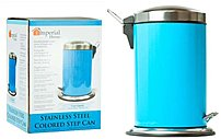 DDI 852038004600 Stainless Steel Trash Can 7 Liters Blue