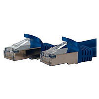 StarTech.com 7ft Blue Shielded Cat6a Molded STP Patch Cable - Category 6a - 7 ft - 1 x RJ-45 Male Network - 1 x RJ-45 Male Network - Blue