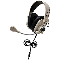 Califone 3066Avt Deluxe Stereo Headset with Microphone 3.5mm Stereo Black Mini phone Wired 300 Ohm 20 Hz 20 kHz Nickel Plated Over the head Binaural Ear cup 3 ft Cable Electret Microphone 3066AVT