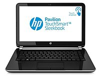 HP Pavilion TouchSmart E0X70UA 14-B109WM SleekBook PC - Intel Celeron B877 1.4 GHz Dual-Core Processor - 4 GB RAM - 500 GB Hard Drive - 14-inch Touchscreen Display - Windows 8 64-Bit - Black