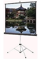 DA Lite Picture King 86021 106 inch Projection Screen with Tripod 16 9 Matte White