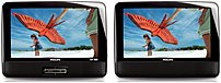 Philips PD9012M/37 Widescreen Portable DVD Player - 9.0-inch LCD Dual Screen - Black