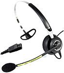 Image of Jabra BIZ 2400 2403-820-105 Mono NC Cord Headset Premium Series Microphone - Semi-Open - Monaural - Wired