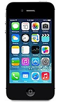 Apple MF267LL/A iPhone 4S Smartphone - CDMA2000 1X 800/1900 MHz - Bluetooth 4.0 - 3.5-inch Display - Boost Mobile - 8 GB Memory - 8.0 Megapixels Camera - iOS 7 - Black - Locked to Prepaid