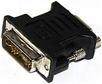 Generic G01-DVI-VGA-BK-F Video Adapter - 1 x DVI-A Male, 1 x VGA HD 15 Female