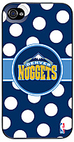 Denver Nuggets Polka Dots Design on iPhone 4s/4 Thinshield Snap-On Case by Coveroo