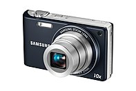 Samsung PL210   Digital camera   compact   14.2 Megapixils   10 x optical zoom   blue PL210 is a high zoom, wide angle camera which boasts intuitive features that make it easier than ever to take great pictures on the go
