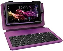 RCA Voyager RCT6773W22KBPU 7-inch Touchscreen Tablet PC with Keyboard/Case - 1.0 GHz Quad-Core Processor - 1 GB DDR3 RAM - 8 GB Storage - Android 4.4 KitKat - Purple