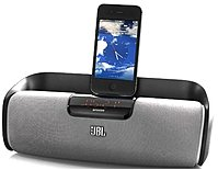 Jbl Onbeatrizeblkam Onbeat Rize Docking Bedroom Speaker - Apple 30-pin Dock Connector - Black/silver