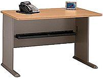 Bush Furniture WC64348FA Office Advantage Desk - 48.0 inches - Light Oak