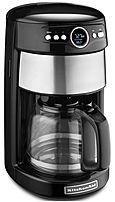 Kitchenaid Coffee Maker 14 Cup Manual : KitchenAid KCM111OB 12-Cup Glass Carafe Coffee Maker - Onyx Black