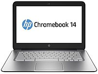 HP Chromebook 14 G1 J2L41UA 14.0-inch Display Notebook PC - Intel Celeron 2955U 1.4 GHz Dual-Core Processor - 4 GB DDR3L SDRAM - 16 GB Storage - Chrome OS 64-bit - Black