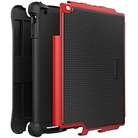 Ballistic Tough Jacket Tablet for Apple iPad (2nd/3rd/4th Gen.) - iPad - Red, Black - Silicone, Polycarbonate, Thermoplastic Polyurethane (TPU)