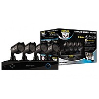 Night Owl S4-4245-NHD 4 Channel Complete Security Solution with 4 Indoor/Outdoor Cameras - Black