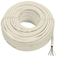 RCA TP003N Phone Cable - for Phone - 50 ft - Bare Wire - Bare Wire - Ivory