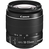 Canon EF-S 5121B005 18 mm - 55 mm f/3.5 - 5.6 Zoom Lens for Canon EF/EF-S - 58 mm Attachment - 0.34x Magnification - 3.1x Optical Zoom - Optical IS