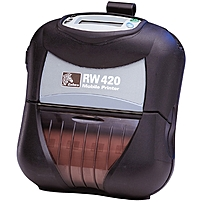 Zebra RW 420 Direct Thermal Printer - Monochrome - Portable - Receipt Print - 4.09' Print Width - 2.99 in/s Mono - 203 dpi - 16 MB - Wireless LAN - USB - Serial - Battery Included - LCD - 4.13'