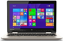 Toshiba Satellite Radius 11 PSKVQU-002002 L15W-B1303 Convertible Laptop PC - Intel Celeron N2840 2.16 GHz Dual-Core Processor - 2 GB DDR3L SDRAM - 32 GB Solid State Drive - 11.6-inch Touchscreen Display - Windows 8.1 64-bit Edition - Satin Gold