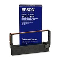 Epson Color Ribbon Cartridge - Black, Red - Dot Matrix - 1 Each - Retail