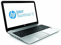 The HP ENVY E0K02UA 15 J040US Notebook PC as a glass fiber chassis, complete with silky soft touch paint in a natural silver finish