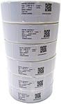 Zebra Z-Select 4000D 10010037 Thermal Label for 2746, 2746e, DA402 Printers - 1.2 x 0.9 inches - 6 Rolls - White