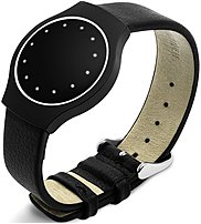 Misfit Wearables 812554020225 Sb1e0 Pebbled Leather Band - Black