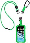 Icat Dri Cat Underwater Case for iPhone Lime Water Proof Silicone Lanyard Strap 11060P C107