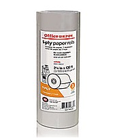 Office Depot 109303 Single-Ply Paper Rolls - Pack Of 3 - White