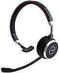 Jabra Evolve 65 Microsoft Lync Mono - Mono - USB - Wireless - Bluetooth/NFC - 98.4 ft - Over-the-head - Monaural - Supra-aural - Noise Cancelling, Noise Reduction Microphone