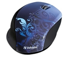 Verbatim 97785 Wireless Notebook Optical Mouse - Design Series - Blue