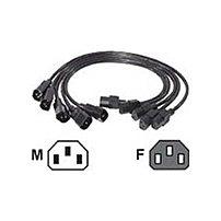 APC AP9890 2 Feet Power Extension Cord - 1 x IEC 320-C13, 1 x IEC 320-C14 - Black - 5 Pack