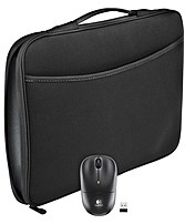Keep it simple and classy with the Logitech 910 002138 16.0 inch Laptop Sleeve with Wireless Mouse
