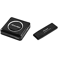 P Actiontec's ScreenBeam Wireless Display Adapter Kit allows users to beam the display from their laptop, tablet or smartphone screens onto almost any HDTV