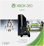 Microsoft Xbox 360 Gaming Console - With Game Pad - Wireless - Black - Ati Xenos - 1920 X 1080 - 16:9 - 1080p - Dolby Digital - Dvd-reader - 500 Gb Hdd - Fast Ethernet - Wireless Lan - Hdmi - Usb - Triple-core (3 Core) 3m4-00001