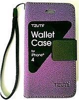 Tzumi 3325 U WM Wallet Case for Apple iPhone 4 Smartphone Purple