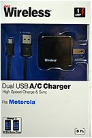 Just Wireless 04253 A/C Charger for Motorola Photos