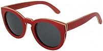 HF Eyewear ANGELA Women's Cat-Eye Sunglasses - Red Bamboo