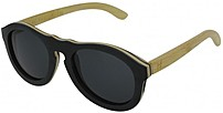 HF Eyewear ACERO Unisex Maple and Bamboo Keyhole Sunglasses