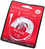 GE 030878365819 36581 7.0 Feet Telephone Line Cord White