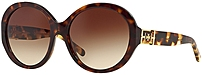 Tory Burch Ty7072-133113 Womens Round Sunglasses - 56-17-135 - Dark Tortoise/khaki