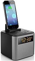 Philips Ajt3300 Bluetooth Clock Radio With Universal Dock - Black