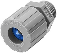 Hubbell SHC1023CR Straight Male Cord Connectors - 1 Piece - Grey