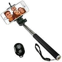 iCover IC-SELFIE-BK Selfie Stick with Bluetooth Remote for Smartphones - Black